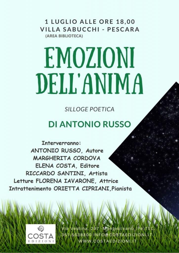 Antonio Russo presenta Emozioni dell'anima a Villa Sabucchi